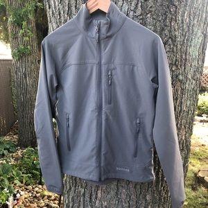 Marmot soft shell gray jacket